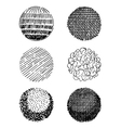 hand-drawn spheres vector image vector image