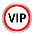 Vip circular icon vector image