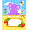 baby elephant cadr vector image