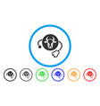 cow veterinary rounded icon vector image