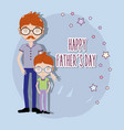 Father with his son celebrating father day vector image