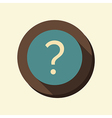 flat web icon the question mark vector image