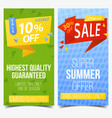 labels or tags signs or vouchers for discount vector image