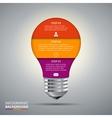 lightbulb for infographic vector image