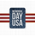 Memorial Day USA realistic Sign with Text vector image