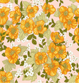 Seamless pattern of yellow wildflowers vector image