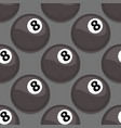 seamless pattern with billiards ball black vector image