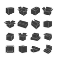 Set of icons of boxes vector image