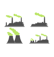 Set of industry factory building icons factory vector image