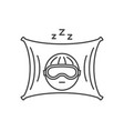 thin line sleep icon vector image