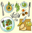 vegetarian food vector image