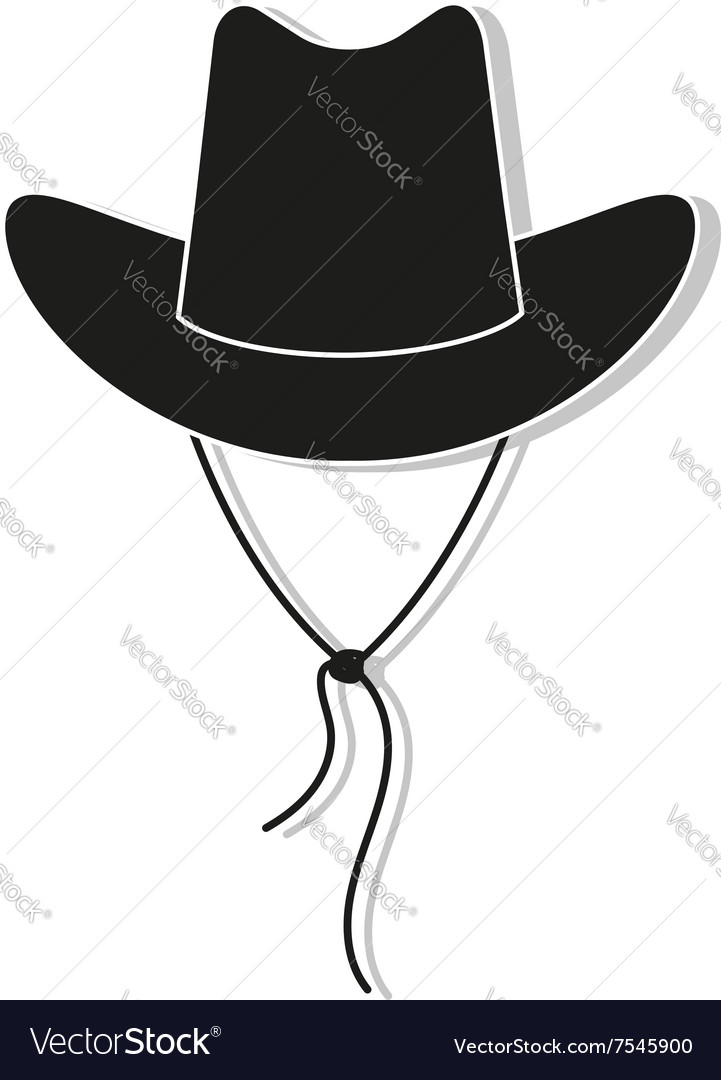 Cowboy hat icon  black vector