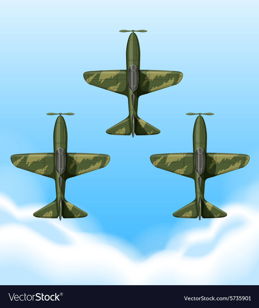 Planes flying in the sky vector