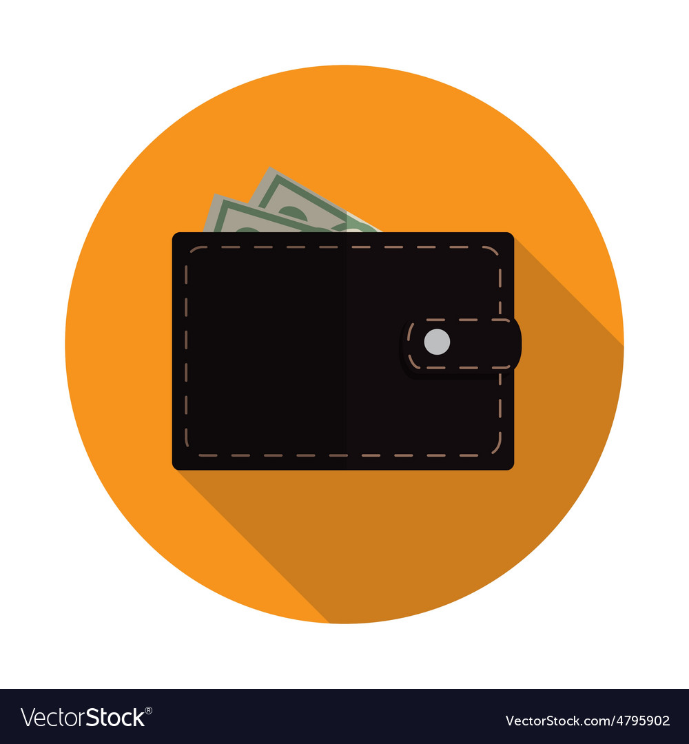 Flat design concept wallet vector