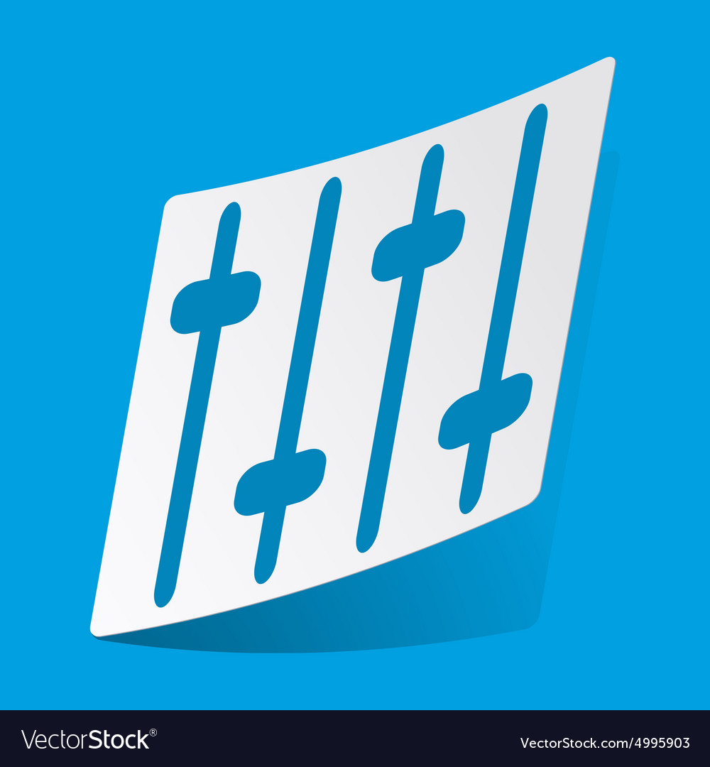 Faders sticker vector
