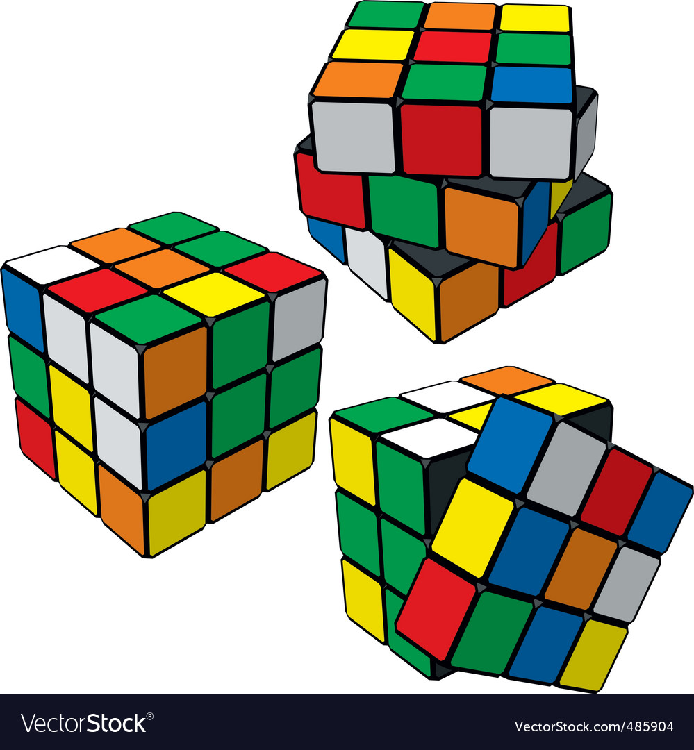 Rubiks cube puzzle vector