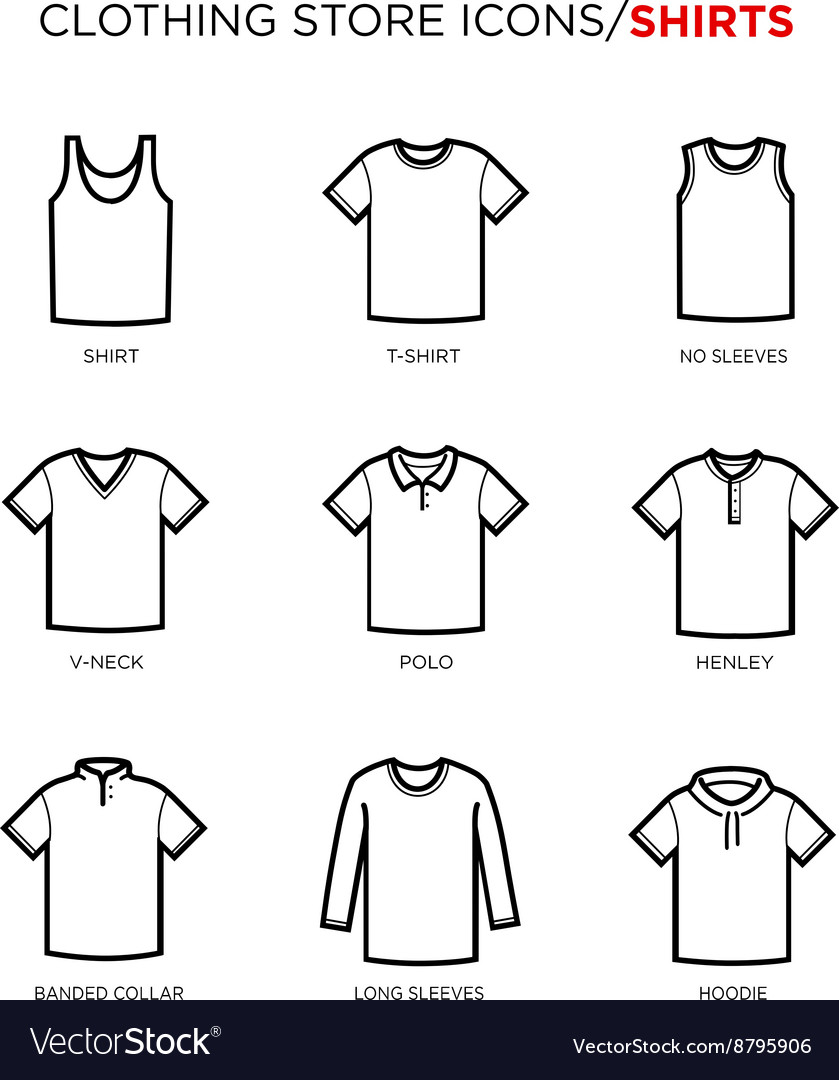 T shirt icon set vector