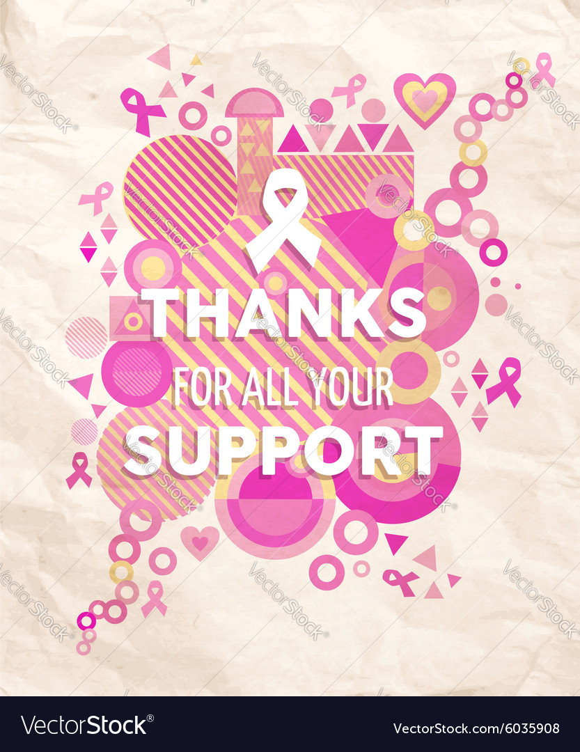 Breast cancer awareness geometry support poster vector