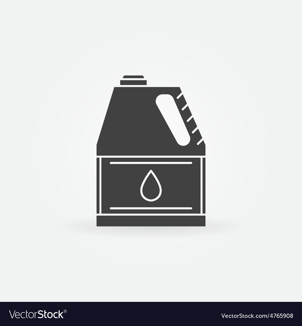 Motor oil for car icon vector