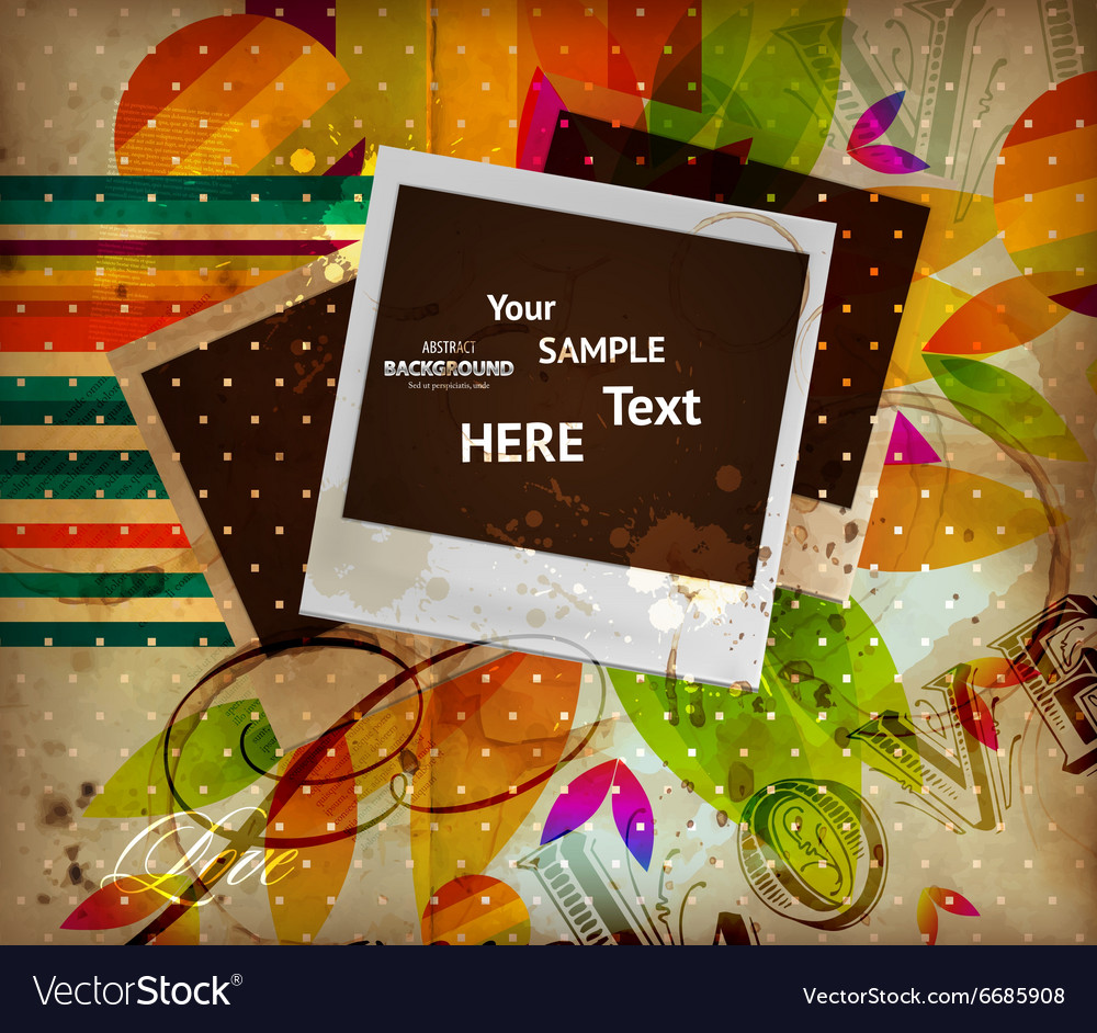 Vintage polaroid background vector
