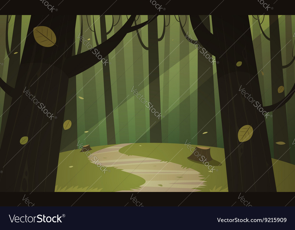 Forest trail vector