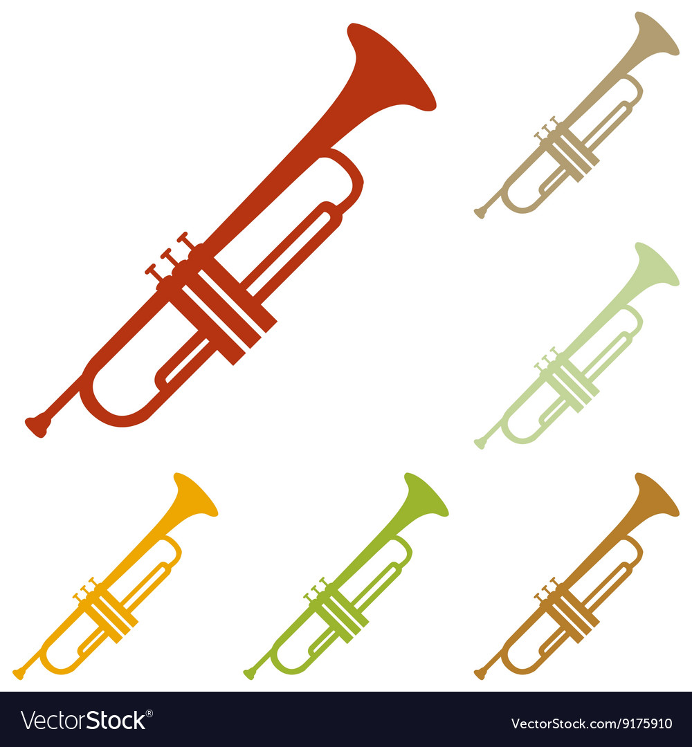 Musical instrument trumpet sign vector