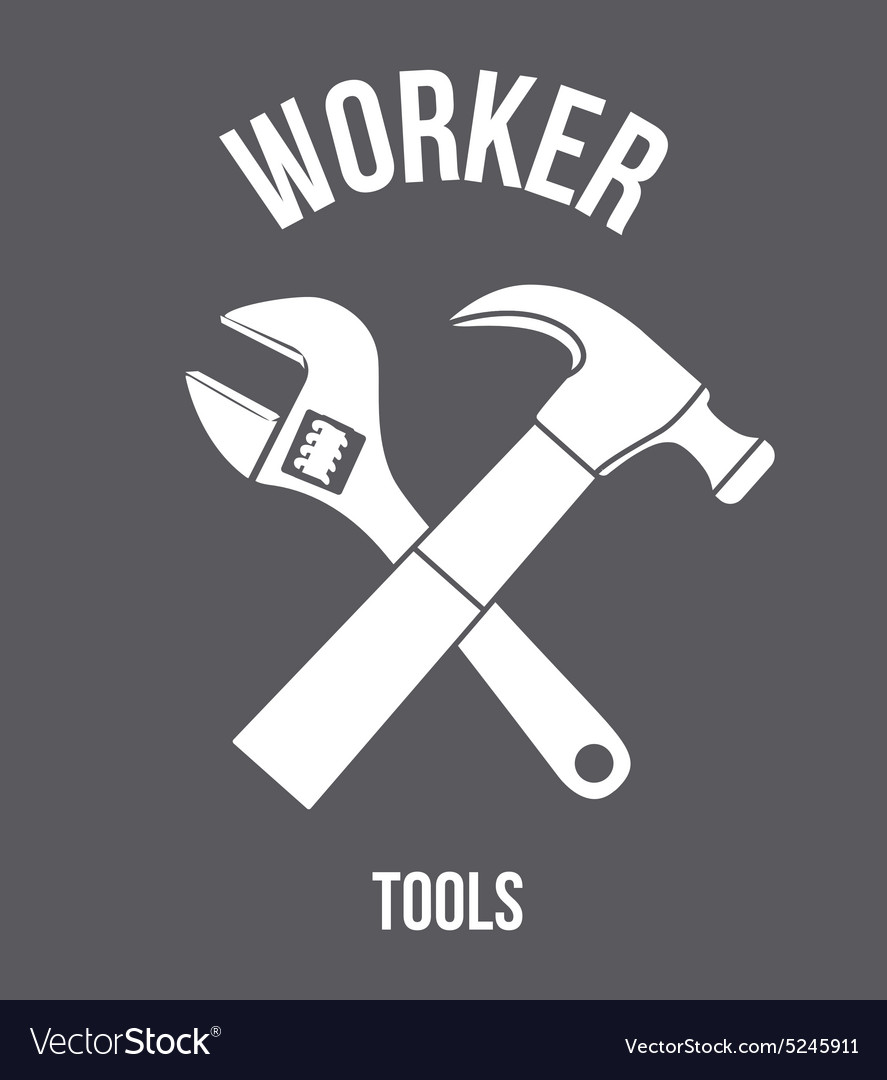 Worker tools design vector