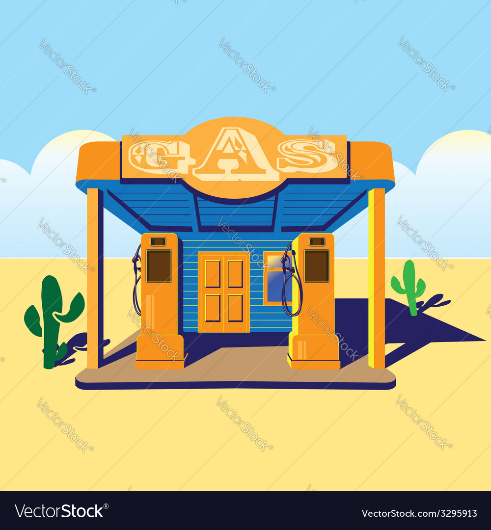 Gas station vector