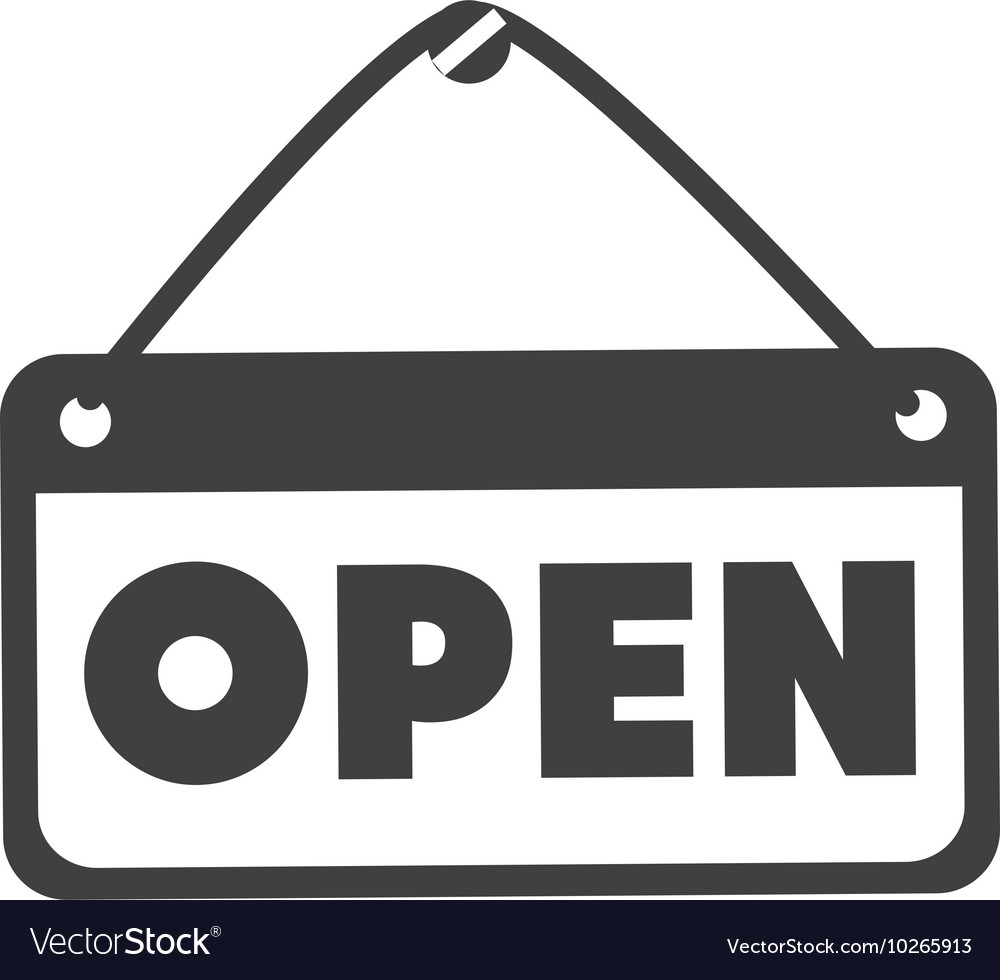Open sign store vector