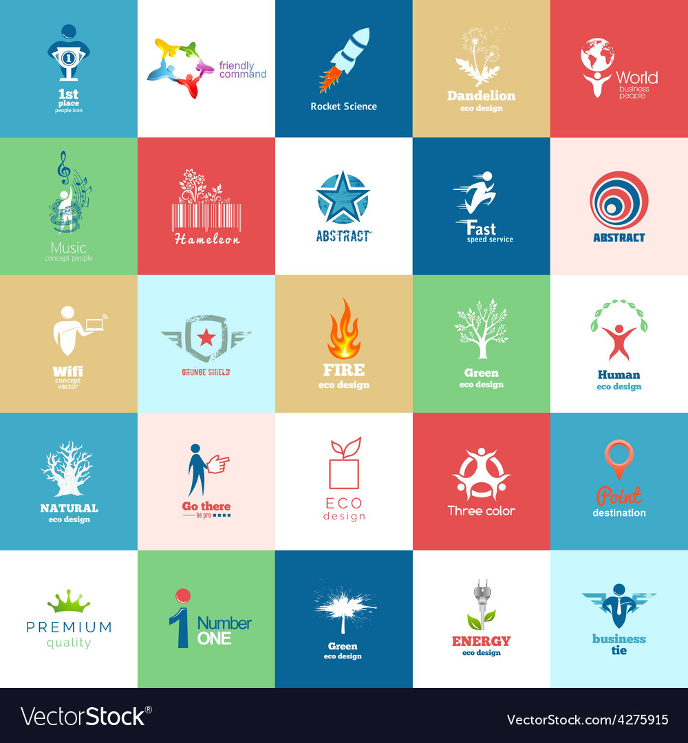 Big set of design color icon set vector
