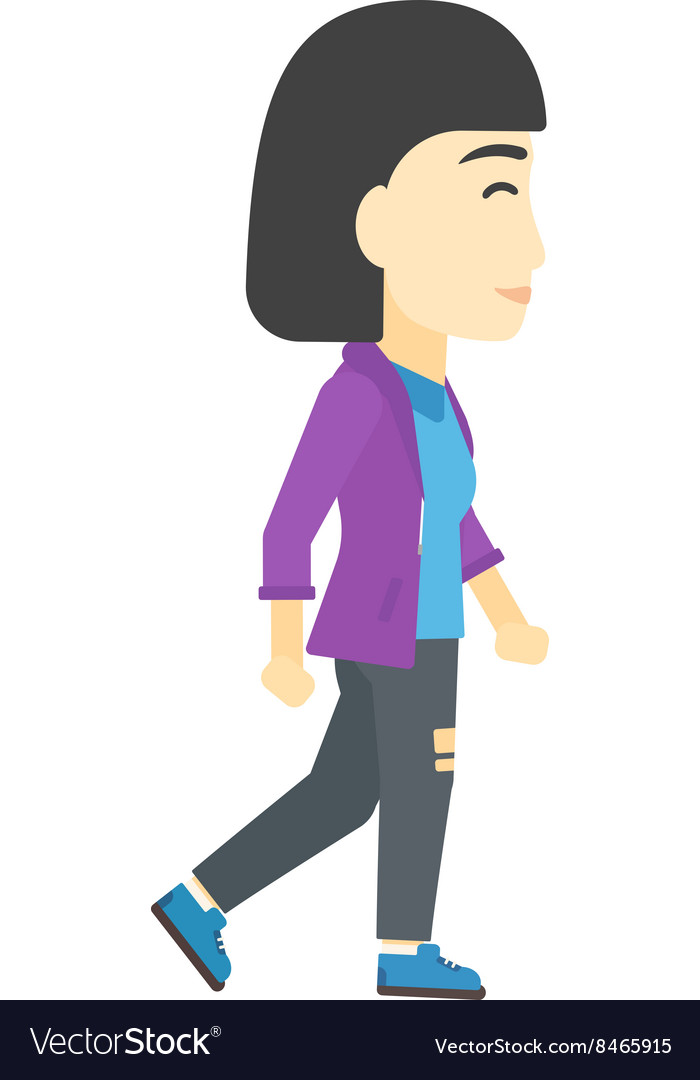 Business woman walking vector