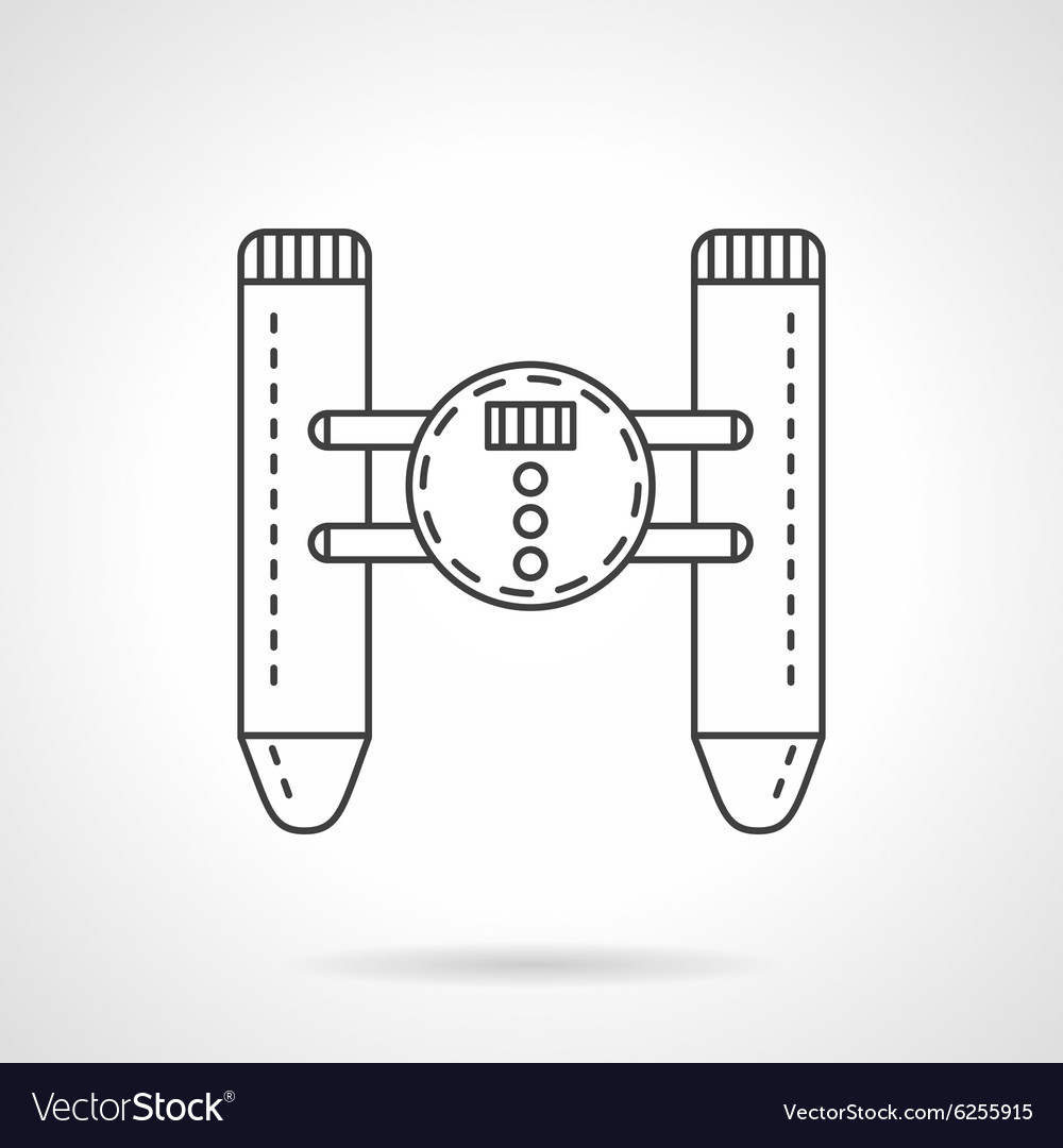 Remote control device flat line icon vector