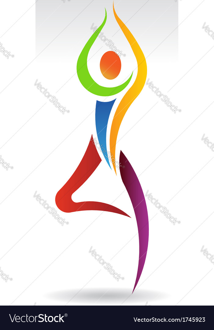 Yoga pose 2 logo vector