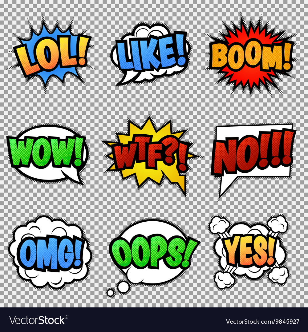 Speech bubbles tags collection vector