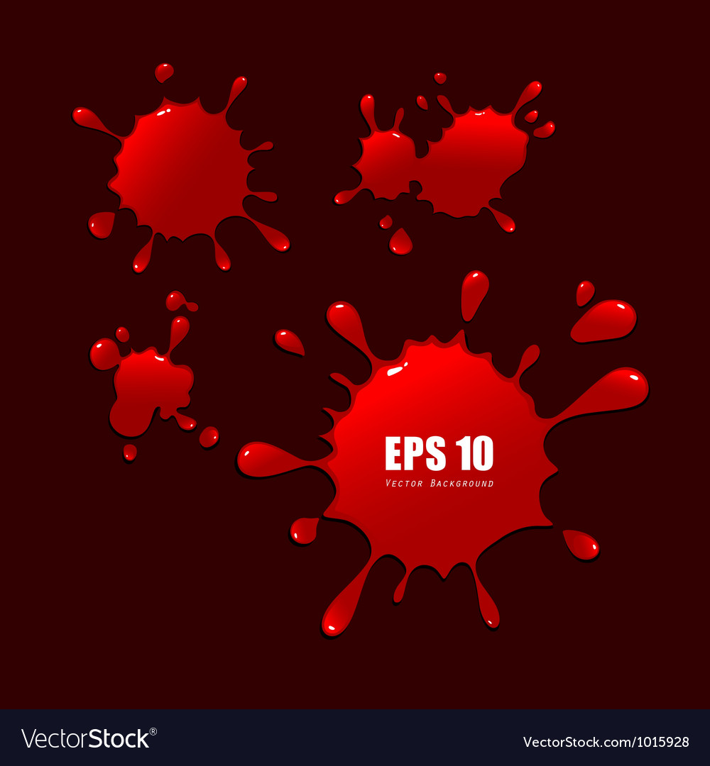 Abstract red blood drops vector