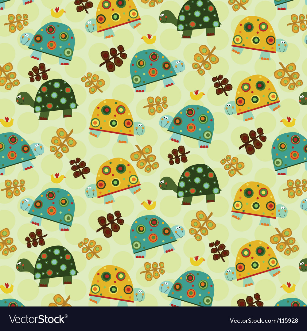 Turtle pattern vector