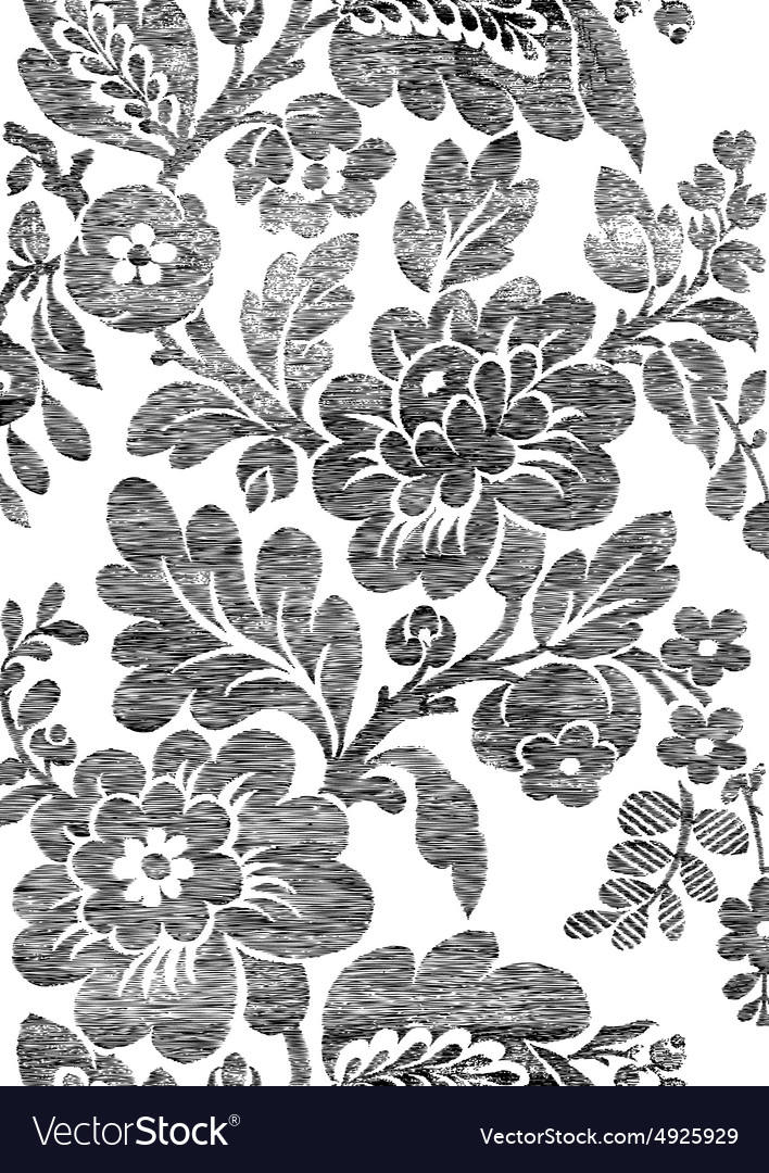 1 abstract handdrawn floral seamless pattern vector