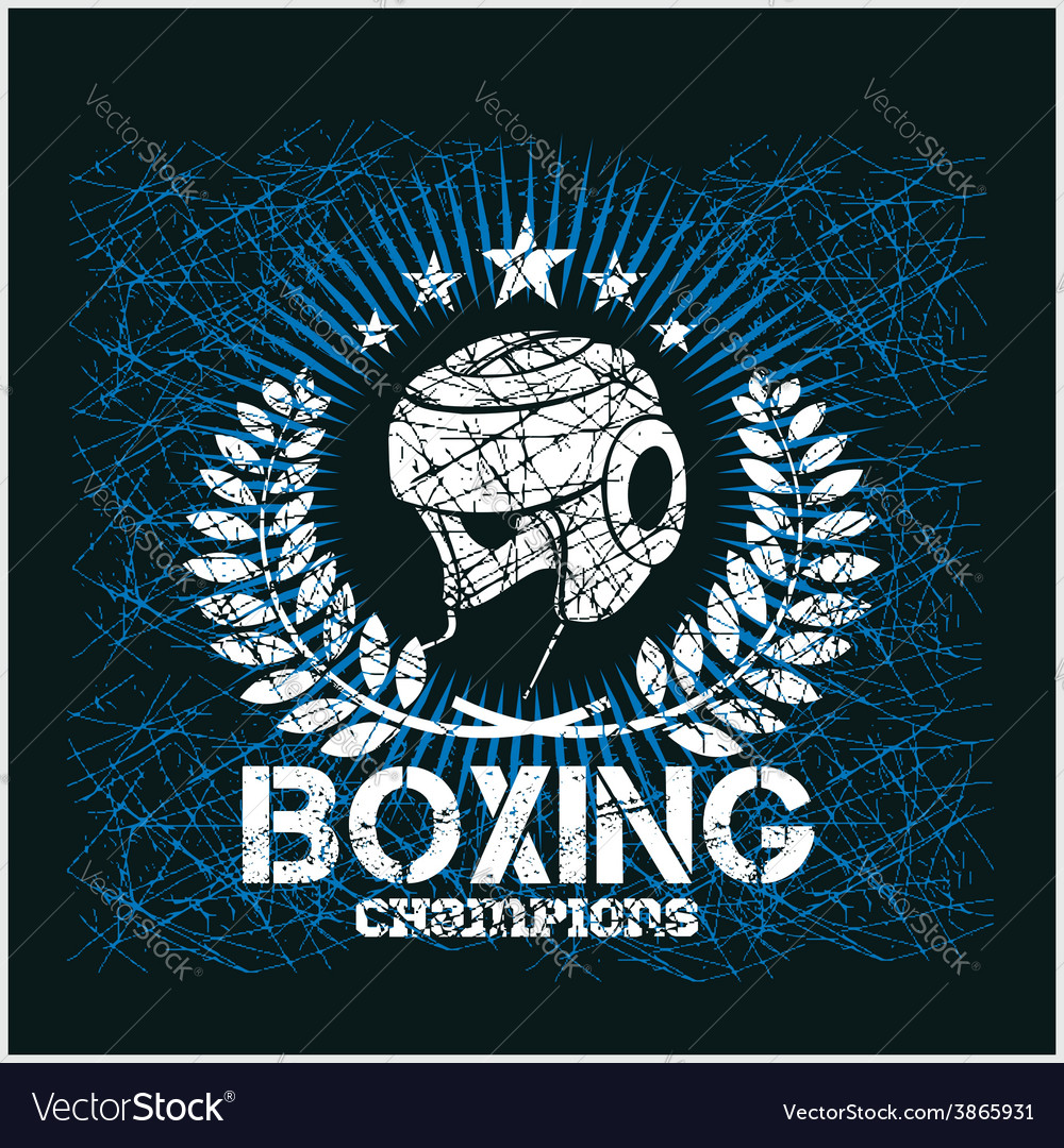 Boxing champion  vintage artwork for t vector