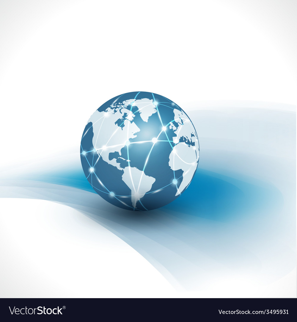 Communication world technology business vector