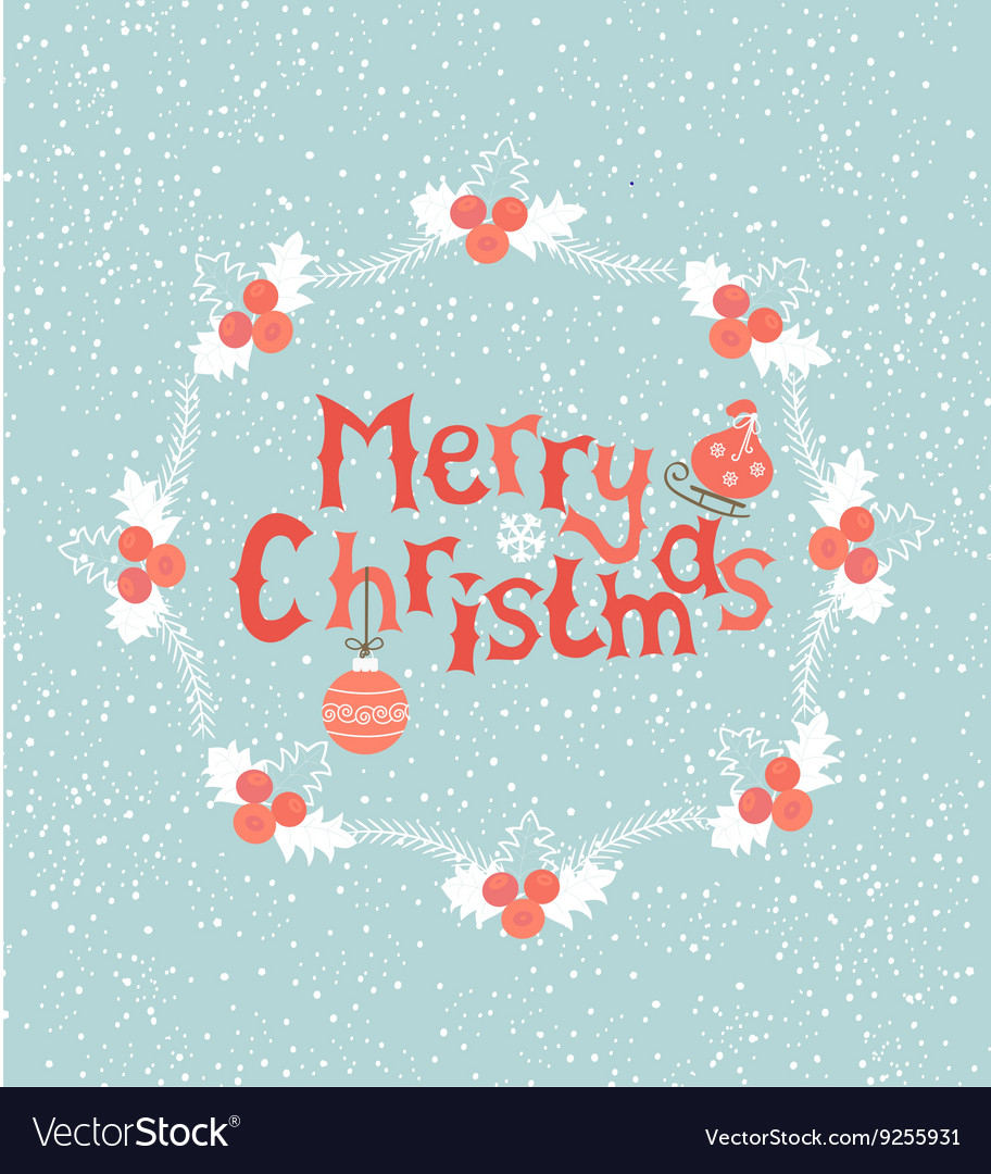Greeting card for christmas vector