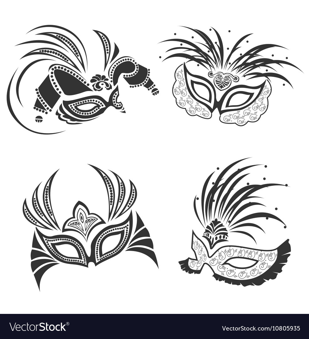 Lace mask vector