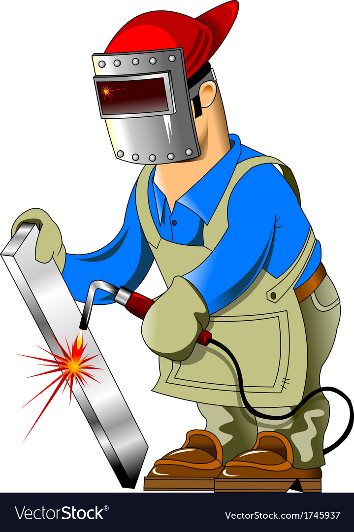 Cartoon welder vector