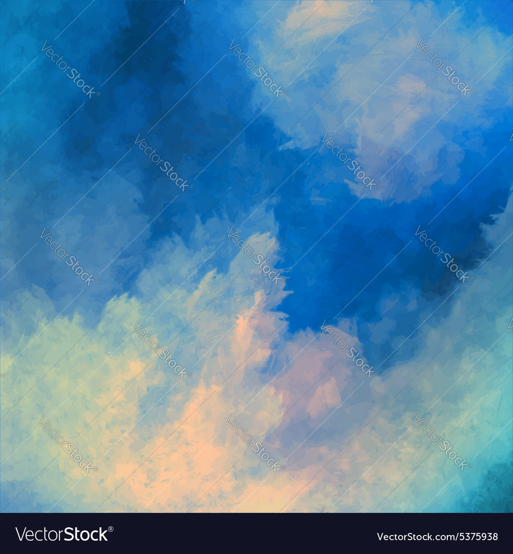 Dramatic sky painting background vector