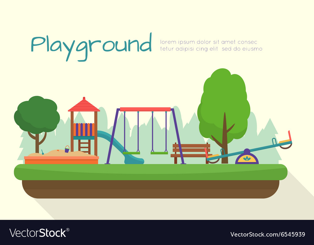 Kids playground set vector