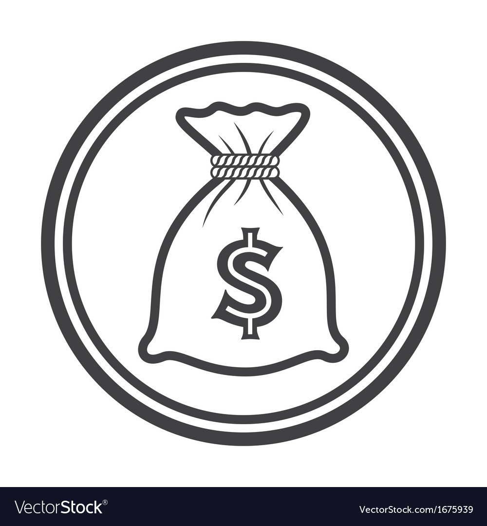 Money bag icon vector
