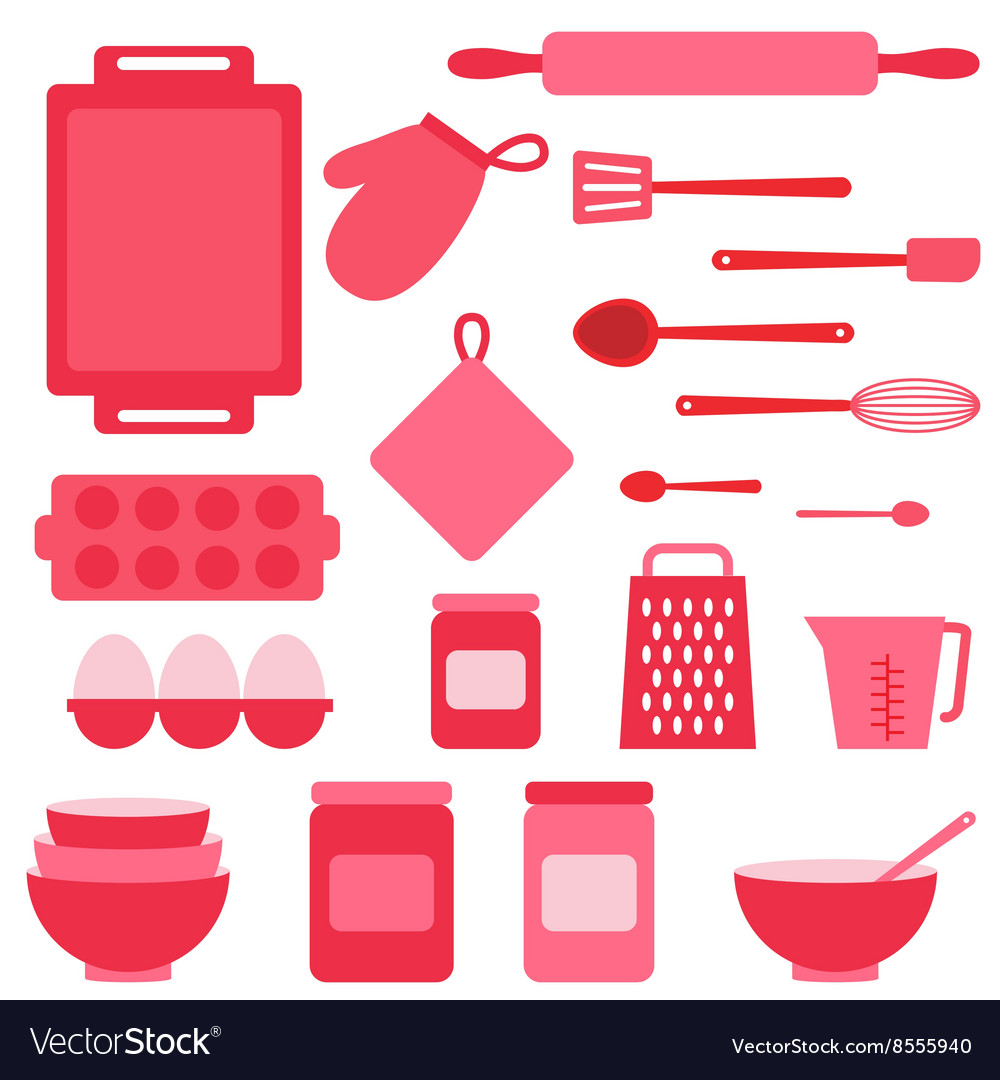 Icons collection on baking theme vector