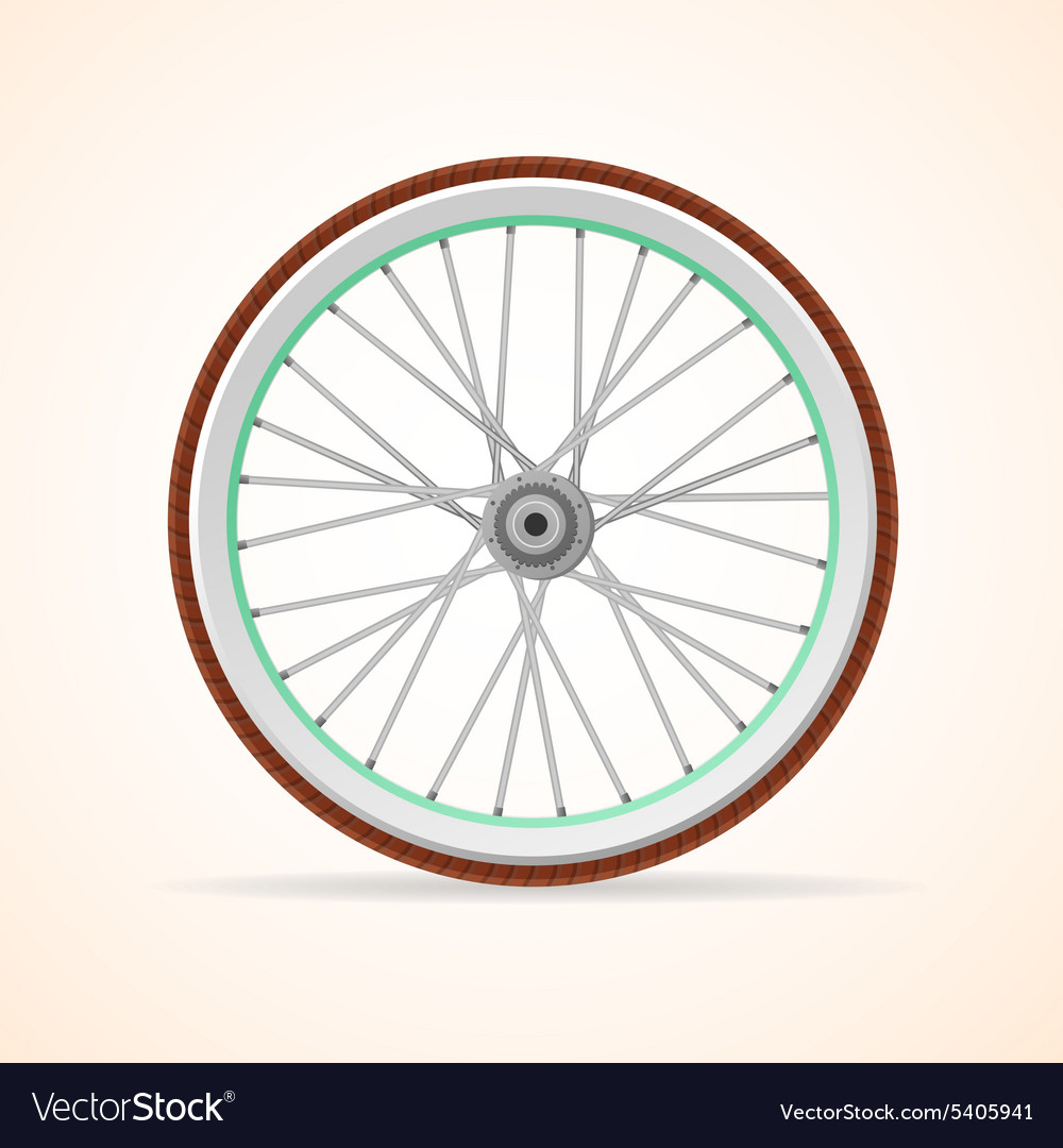 Bicycle vintage wheel vector
