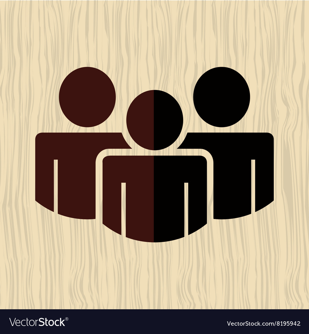 Teamwork silhouettes design vector