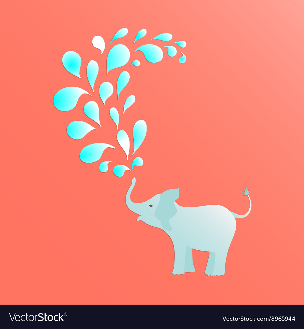 Baby elephant poster vector