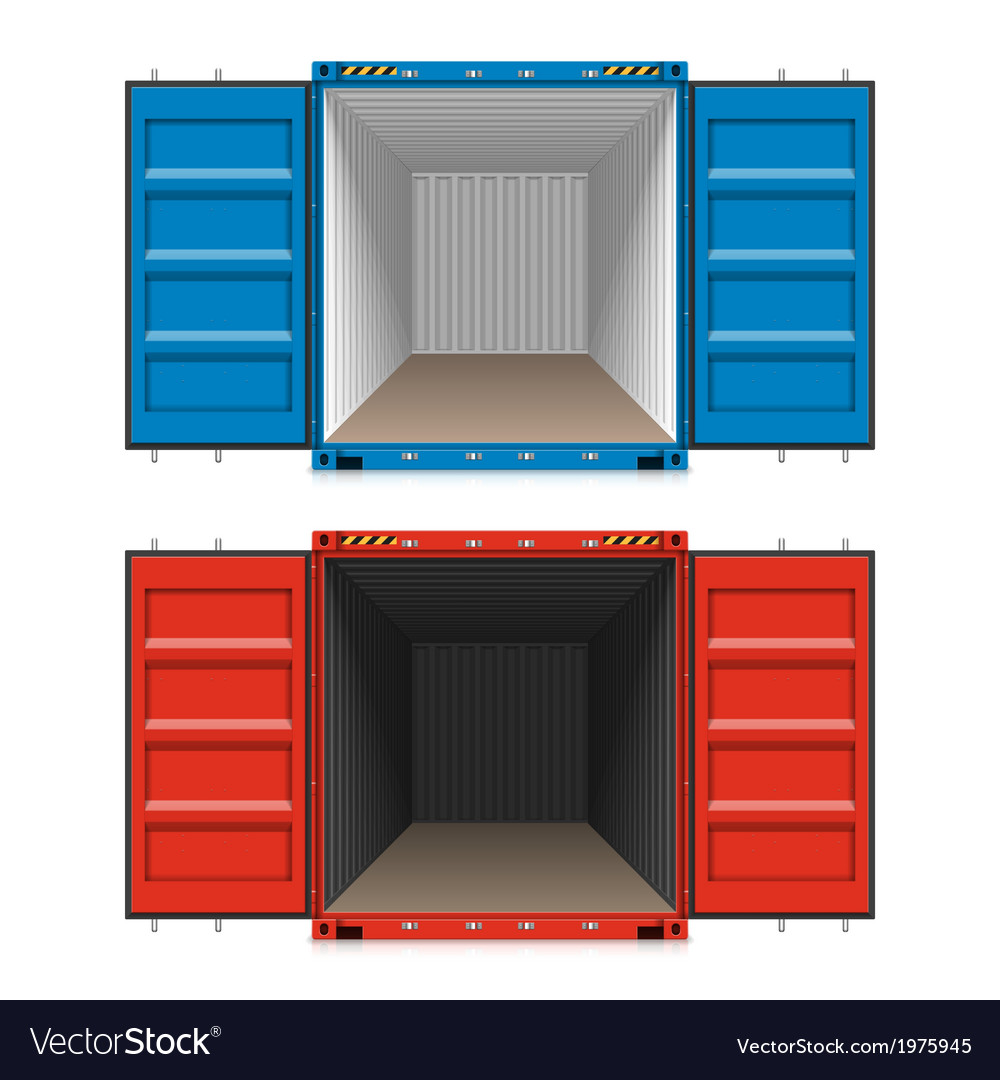 Freight shipping open cargo containers vector